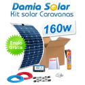 Kit solar para caravanas 160w con placas flexibles