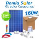 Kit solar completo para autocaravanas 160W