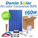 Kit solar completo para autocaravanas 160W Dual. Para cargar 2 baterías