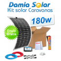 Kit solar para caravanas 180w con placas flexibles