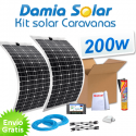 Kit solar para caravanas 200w con placas flexibles