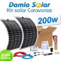 Kit solar para autocaravanas 200W com placas flexíveis
