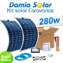 Kit solar para caravanas 280w con placas flexibles