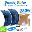 Kit solar para caravanas 280w con placas flexibles