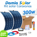 Kit solar para caravanas 300w con placas flexibles