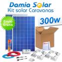 Kit solar completo para autocaravanas 300W