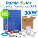 Kit solar completo para autocaravanas 300W Dual. Para cargar 2 baterías