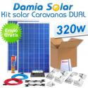 Kit solar completo para autocaravanas 320W Dual. Para cargar 2 baterías
