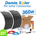 Kit solar para caravanas 360w com painéis flexívels