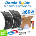 Kit solar para caravanas 360w con placas flexibles
