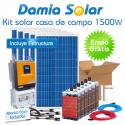 Kit casa de campo 1500W con batería estacionaria