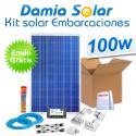 Kit solar completo para embarcaciones y barcos 100W