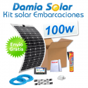 Kit solar para embarcaciones y barcos 100w con placa flexible