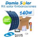 Kit solar para embarcaciones y barcos 140w con placas flexibles