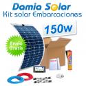 Kit solar para embarcaciones y barcos 150w con placas flexibles