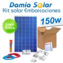 Kit solar completo para embarcaciones y barcos 150W