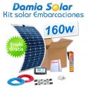Kit solar para embarcaciones y barcos 160w con placas flexibles