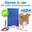 Kit solar completo para embarcaciones y barcos 160W