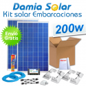 Kit solar completo para embarcaciones y barcos 200W