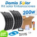Kit solar para embarcaciones y barcos 200w con placas flexibles