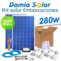 Kit solar completo para embarcaciones y barcos 280W