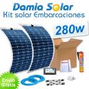 Kit solar para embarcaciones y barcos 280w con placas flexibles