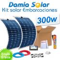 Kit solar para embarcaciones y barcos 300w con placas flexibles