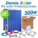 Kit solar completo para embarcaciones y barcos 300W