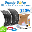Kit solar para embarcaçoes e barcos 320W com painéis flexívels