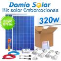 Kit solar completo para embarcaciones y barcos 320W