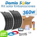 Kit solar para embarcaciones y barcos 360W con placas flexibles