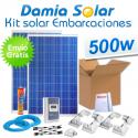 Kit solar completo para embarcaciones y barcos 500W 12V