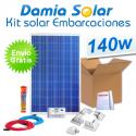 Kit solar completo para embarcaciones y barcos 140W