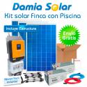 Kit solar para finca con bomba de piscina