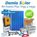Kit solar Huerto Plus: Nevera-congelador, luz y bomba de agua para regar