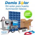 Kit solar iluminación básica Huerto. Cuasi-Mono
