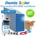 kit solar para uso directo de bomba de agua 2CV 230V monofásica