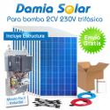 kit solar para uso directo de bomba de agua 2CV 230V trifásica
