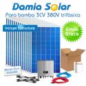 Kit solar para uso directo de bomba de água 3CV 380V trifásica