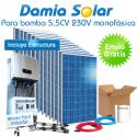 Kit solar para uso directo de bomba de agua 5'5CV 230V monofásica