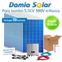 kit solar para uso directo de bomba de água 5,5CV 380V trifásica
