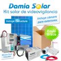 Kit solar de videovigilancia para exteriores (Incluye camara y router)