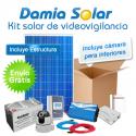 Kit solar de videovigilancia para interiores (Incluye camara y router)