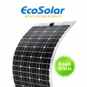 Placa solar flexível Ecosolar 100W monocristalina