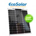 Placa solar flexible Ecosolar 50W monocristalina cuadrada