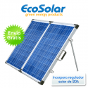Panel solar plegable portátil 260W 12V (130W+130W) + regulador 20A