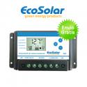 Controlador de carga Ecosolar Premium 20A con Pantalla