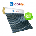 Termosifon Escosol 150 HP 15 con tubos de vacío. Para cubierta inclinada.